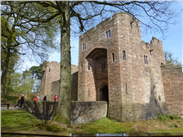 The imposing gatehouse of Peckforton Castle.