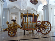 C18th French Rococo carriage in the Liechtenstein Palace.