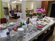 Domesticity now- a mouthwatering choice on the breakfast buffet at our hotel, the das Tigra.