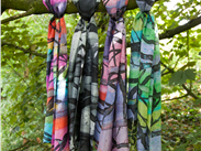 Summer, winter, autumn spring-our beautiful, hand painted silk scarves!