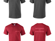 Our exclusive T shirt-red or grey, medium, large or extra large.