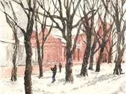 VERY LOW STOCK Winter Whitworth Park by Juliet Jones