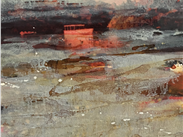 Red Ice, Margaret Cahill, a Manchester based artist, working from Rogue Studios