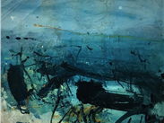 Sea Study, Alison Murdock. Alison works from a studio at Vernon Mill, Stockport. The sea is one of the recurring themes in her work which deals with mood and memory as well as gesture and mark making