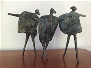 Walking Children, limited edition bronze, 1/9 by Neil Wood, another treasure from the Saul hay Gallery in Manchester