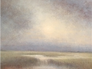 Light of the Morning, oil, wax and resin on linen panel by Marc Civitarese