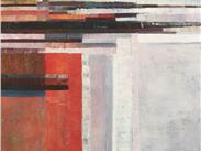 Llandwynn Lighthouse,oil on canvas, Deborah Butler, a work that brings back happy memories of the Manchester Art Fair