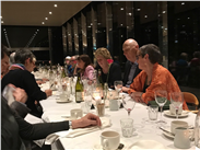 # 4: Missing The Cafe in the Trees. Here we are with Tate Modern Director, Frances Morris after one of our lectures. Great food, lovely staff, magical atmosphere. What's not to like?