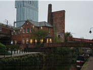 In the shadow of Beetham Tower