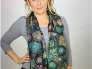 Scarf based on the Millefiori jewellery design